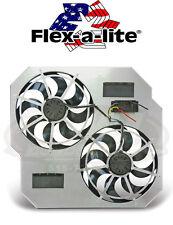"""Flex-A-Lite 264 Direct-Fit Dual 15"""" Electric Fans 2003-2009 Dodge Ram 5.9 Diesel"""