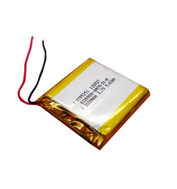 Li-polymer  Rechargeable Battery  3.7V 2600 mAh Li-Po ion 785251 for Tablet PC