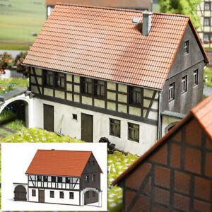 Busch 1505 Poutre En Treillis Maison Avec 2 Hofeinfarten Kit De Montage Ho Neuf