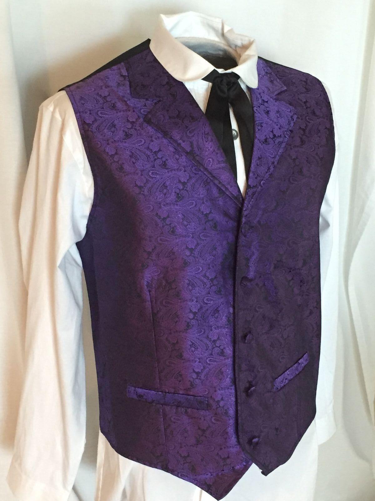 Scully Rangewear Men's Cheyenne Purple Paisley Western Vest, S-6X