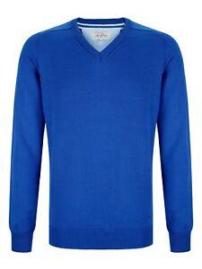 Pullover Royal A Cotone Scollo V Drifter Blue Misto qqvAw71