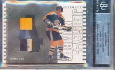 2003-04 BAP ULTIMATE MEMORBILIA BOBBY ORR JERSEY NUMBER 7/10 PATCH GAME USED