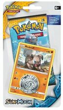 Pokemon TCG: Sun & Moon - Checklane Blister Pack + Rockruff Card & Pikachu Coin