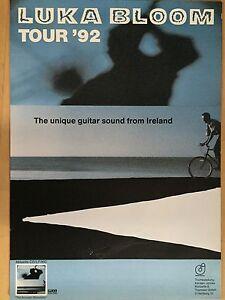 LUKA-BLOOM-1992-TOUR-orig-Concert-Poster-Konzert-Plakat-A1-xx