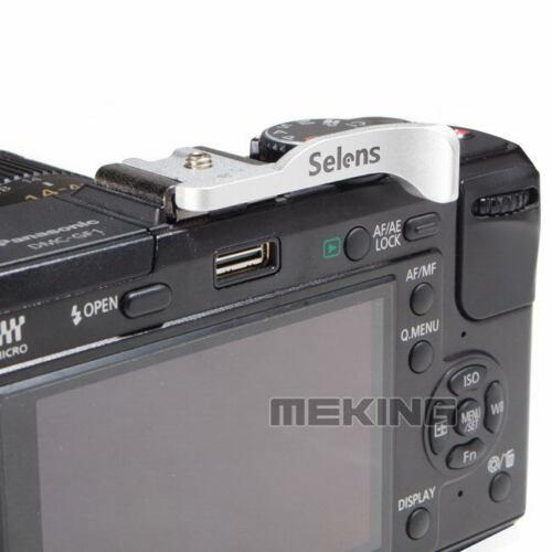 Cámara De Metal Plateado Pulgar Arriba agarre Selens SE-MZ02 para cámaras mirroriess