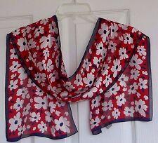 Echo Very Beautiful 100% Luxurious Silk Elegant Flowers Design Scarf, NWT !