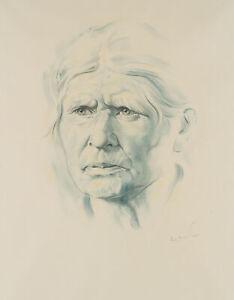 Carl-WALTHER-1880-1956-Portraet-einer-alten-Frau-Aquarell