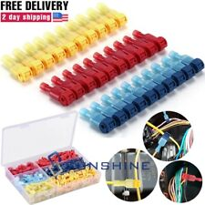 60 240pcs T Tap 22 10 Awg Quick Splice Wire Insulated Terminal Connectors Combo
