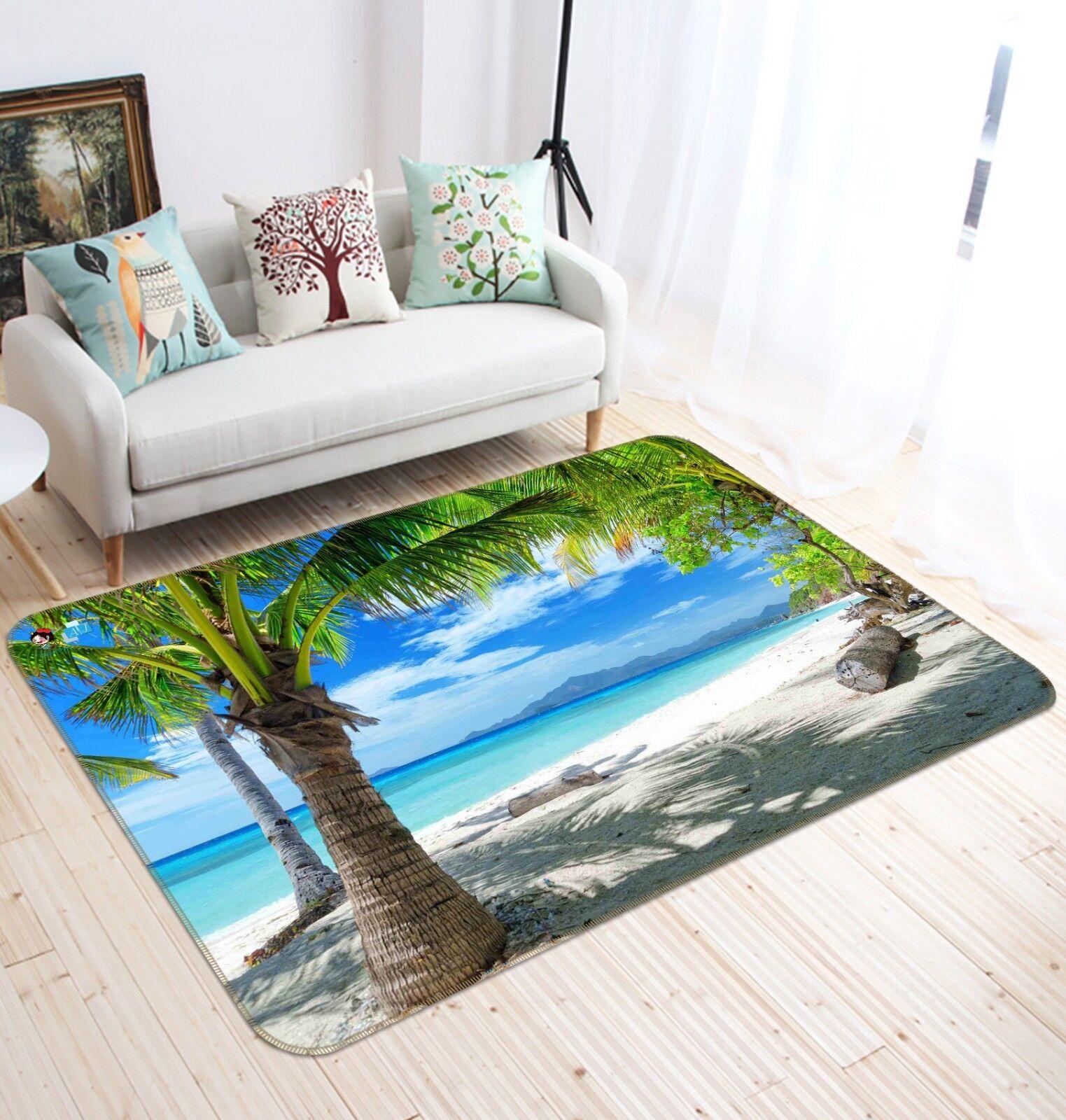 3d spiaggia alberi antiscivolo TAPPETO TAPPETINO BAGAGLIAIO Qualità Tappeto Elegante De