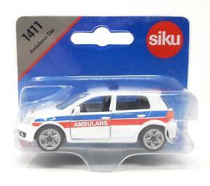 Siku-metal-Edition-Polonia-1411-VW-GOLF-VI-ambulancia-Ambulance-extranjero-modelo