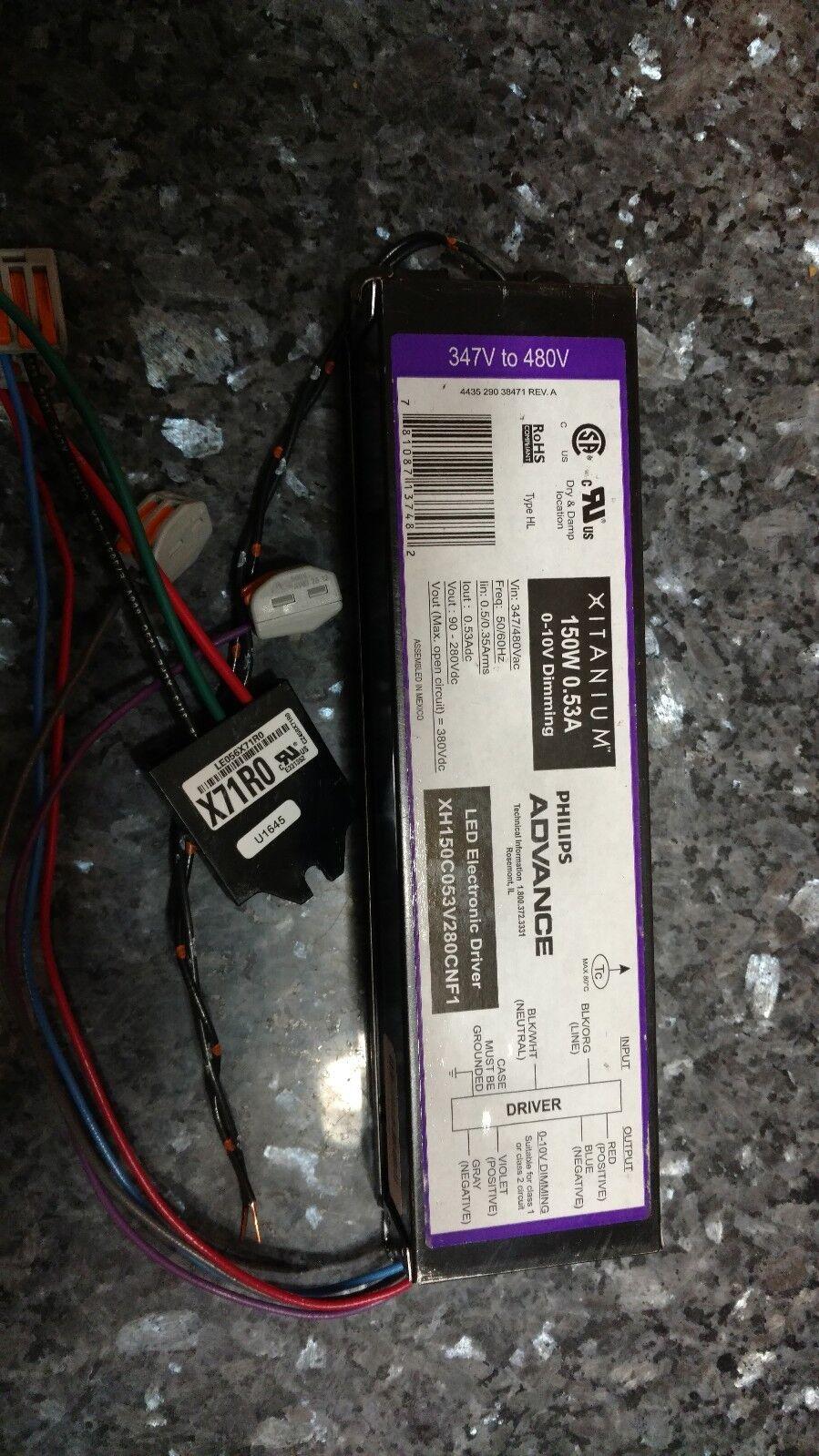 120-277VAC 150W Philips Advance LED Driver LED-INTA-0530C-280-DO