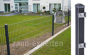 Zaun Gunstig Komplett 15 Meter Anthrazit Hohe 63 Cm Doppelstabmatten
