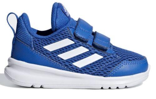 Adidas niños pequeños niños recreativos y deportivos zapato altarun cf i azul blanco