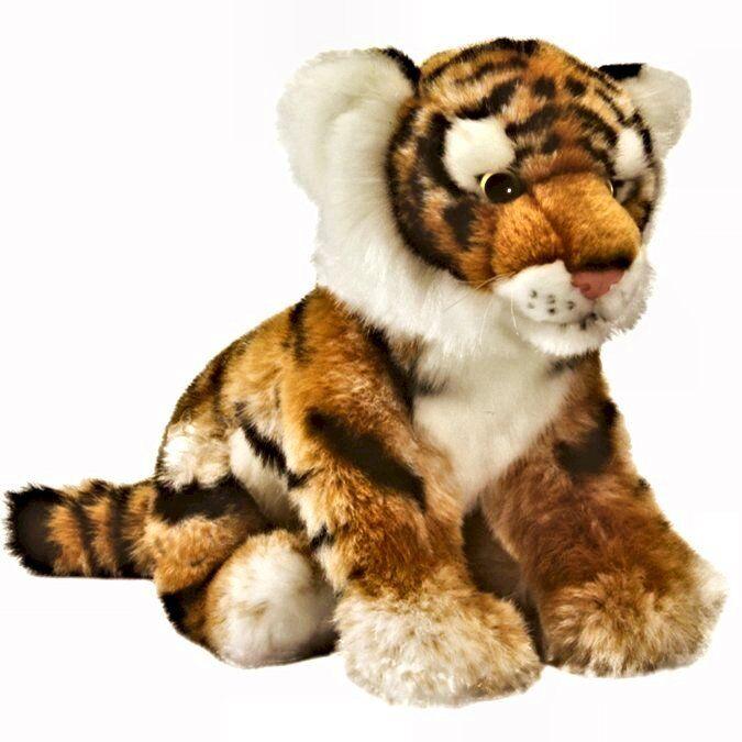 25cm Tiger Cub Living Nature Soft Toy