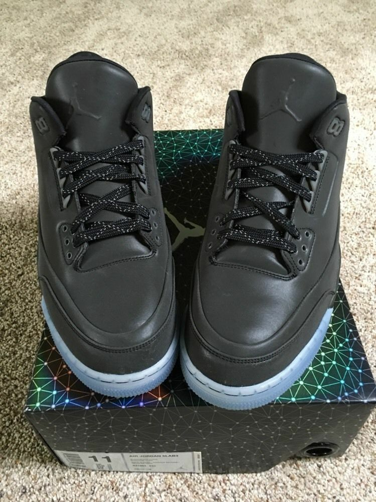 2018 Air para Hombre Nike Jordan 5Lab3 Retro 3 tamaño Air 2018 8.5 Negro Reflectante 3M 631603-010 3952af