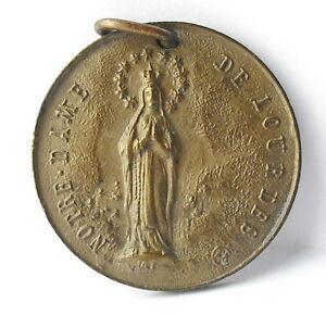 Medal-Republic-D-039-Ecuador-Ecuador-nd-Lourdes-c1920-a-J-Corbierre-22mm-Medal