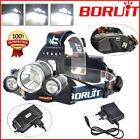 BORUiT 13000lm RJ-5000 XM-L T6+2R5 LED Headlight Rechargeable Headlamp Camping