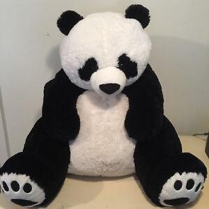 Jumbo 36 Hugfun Panda Bear Plush Stuffed Animal Black White 3 Ft