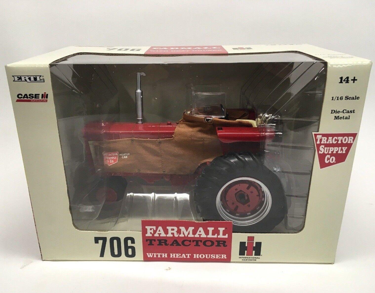 Ertl 1/16 Tractor Farmall 706 Tractor TSC Supply Co Edicion Coleccionista Nuevo en Caja Nuevo