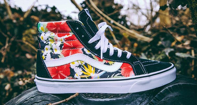Vans Sk8-Hi Digi Aloha Skate Shoes!