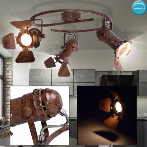 Vintage Decken Lampe Spots verstellbar Gäste Zimmer Schein Werfer Leuchte rost