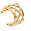 Women-Gold-Plated-Crystal-Hollow-Weaved-Punk-Cuff-Bracelet-Bangle-Party-Jewelry thumbnail 1