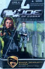 Hasbro Toys 653569384984 G.I Covert Operations Joe The Rise of Cobra 3 3//4 Action Figure Shana Scarlett O Hara