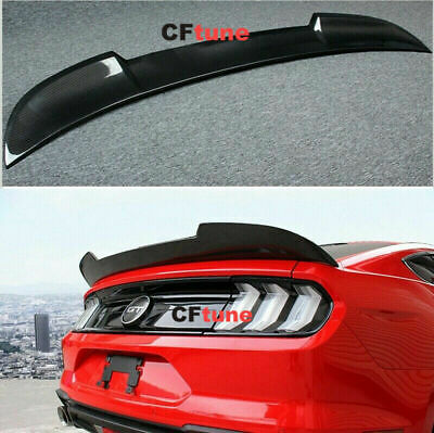 Carbon Fiber Rear Trunk Spoiler Tail Wing Fit For 15-2017 Ford Mustang GT Refit