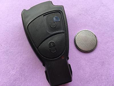 Mercedes 2 Botón Remoto Llave Carcasa Fob Cáscara Sprinter C S Clase E CLK SLK Reparación