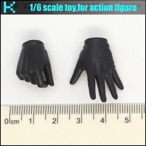 L25-38 1//6 scale action figure woman/'s black gloves hands