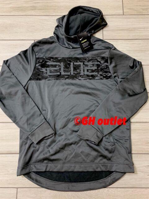 Nike Basketball Elite Mens Therma Dri Fit Pullover Hoodie (XL, Grey) 856467 021