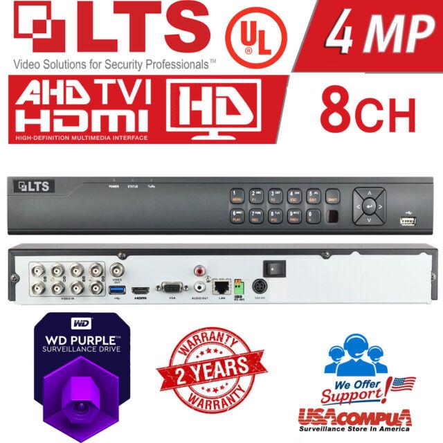 2TB HDD LTS 4 CH DVR LTD8304K-ET PLATINUM 1080P HD TVI DVR hybrid TVI+1CH IP