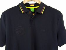 HUGO BOSS GREEN LABEL S/S PAULE GERMAN FLAG BLACK GOLF POLO SHIRT M RRP £99