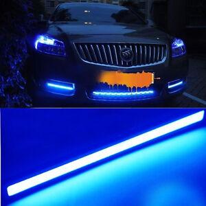 2x-Waterproof-Universal-Car-COB-LED-Daytime-Running-DRL-Strip-Fog-Lamp-Light-12V
