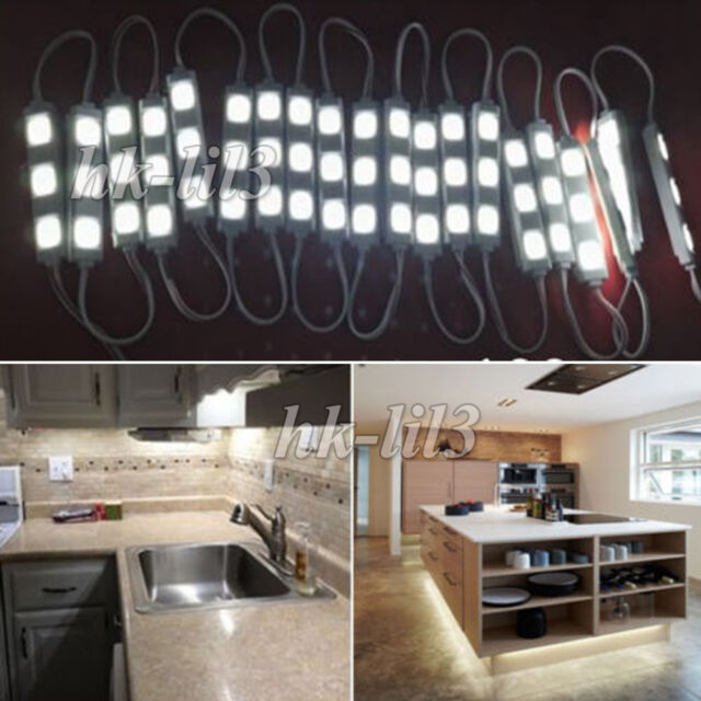 Kitchen under counter lighting Top Us 20ft 6m Led Closet Kitchen Under Cabinet Counter Lights Lampremotepower New Ebay Us 20ft 6m Led Closet Kitchen Under Cabinet Counter Lights Lamp