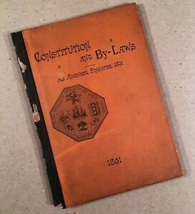HOLLAND-SOCIETY-OF-NEW-YORK-1891-Constitution-and-By-Laws-73-Page-Hardcover-Book
