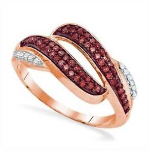 10-Quilates-Oro-Rosa-Rojo-y-Blanco-Anillo-con-Diamante-Banda-33ct