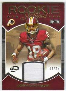 2016-Panini-Playoff-Rookie-Stallions-Prime-Patch-1st-Down-25-22-Josh-Doctson