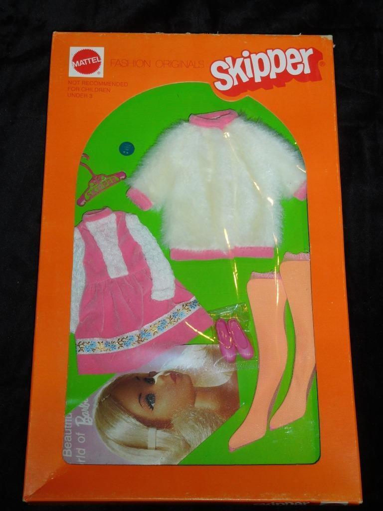 De Colección Barbie Skipper Hermana Fiesta par nunca quitada de paquete de menta en tarjeta  como Nuevo