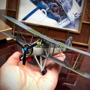 New-1-72-WWII-UK-Fairey-Swordfish-Fighter-Aircraft-Static-Display-3D-Alloy-Model