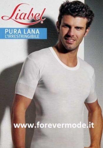 T-Shirt maglia uomo Liabel rasata in pura lana a manica corta art 5148-43 MM
