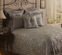 Noble Excellence Moire King Pillow Shams Blue
