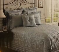 Noble Excellence Moire King Pillow Shams Blue