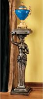 36 French Revival 19th Century Replica Caryatid Pedestal Column Display Stand