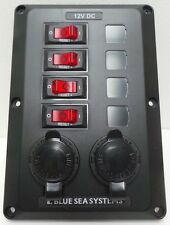 Blue Sea 4 Position With Twin 12v Sockets Switch Panel Circuit Breaker N46