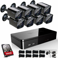 ELEC 8CH 1080P HDMI DVR 1500TVL CCTV 960H Home Security Camera System 500GB HDD
