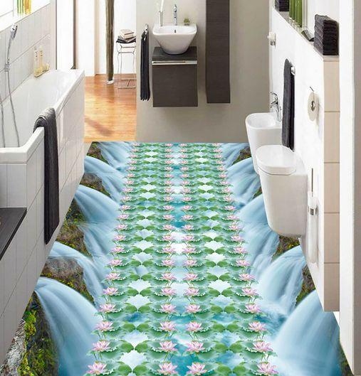 3D Fleurs 08  Fond d'écran étage Peint en Autocollant Murale Plafond Chambre Art