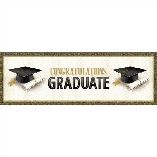 Classic Graduation Congratulations Giant Banner Graduation Party Decoration