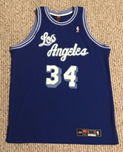 newest a4460 d4cfe Details about Shaquille O'Neal Los Angeles Lakers Blue Nike Jersey Shaq 52  2XL XXL Authentic