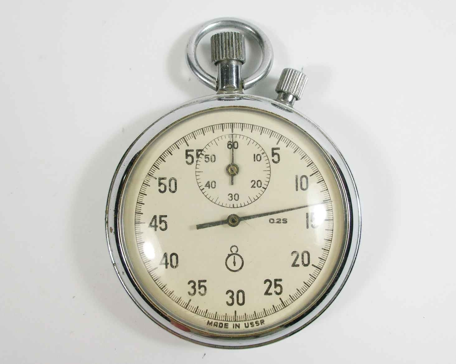 AGAT Russian USSR mechanical STOP WATCH 16 JEWELS (a38)